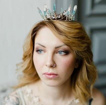 Daenerys-ungewöhnliche Quarzkristall Krone Bridal von beretkah