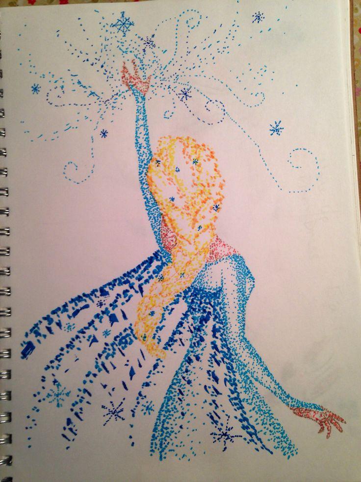 Fan art: Elsa from Frozen