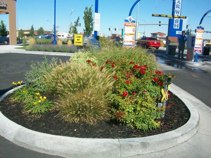 Landscaping at our Nampa car wash