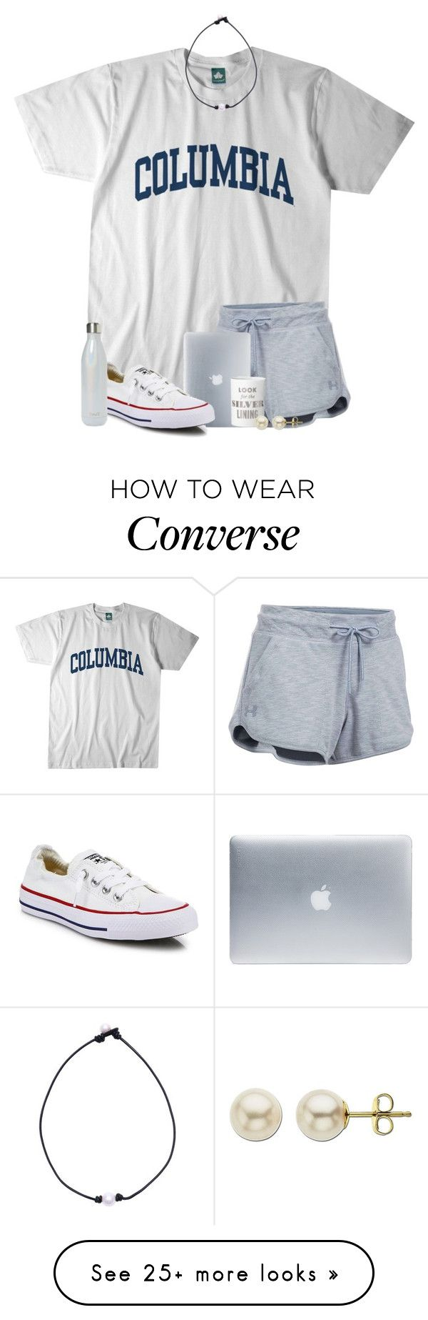 """bored out of my mind "" by jeh-shev on Polyvore featuring Columbia, Under Armour, Incase, Converse, Kate Spade, S'well and Lord & Taylor"