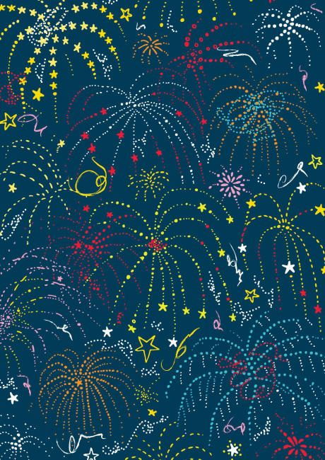 FREE printable New Year Scrapbook paper - fireworks