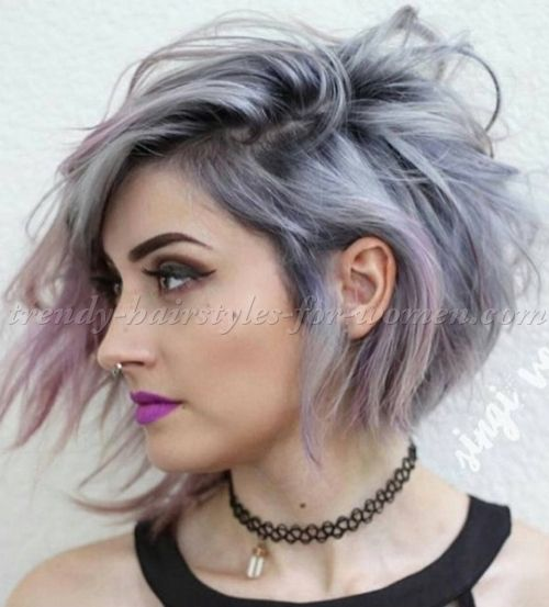 medium asymmetrical hairstyles