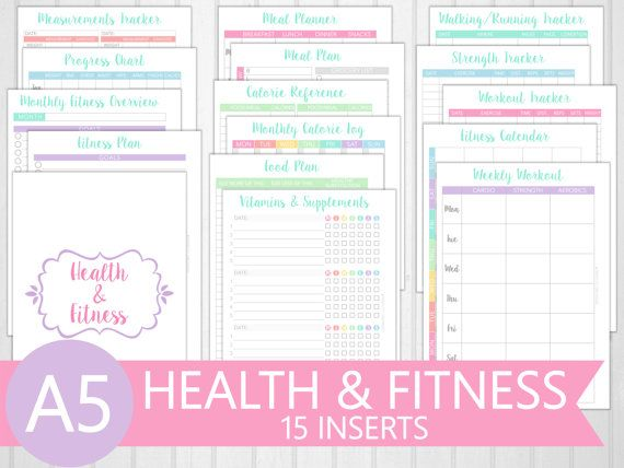 A5 Health & Fitness Planner Printable  15 by PerfectlyOrganised