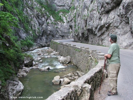 Ed in the gorge by the stream. #Bicaz_Gorges, #Transylvania.