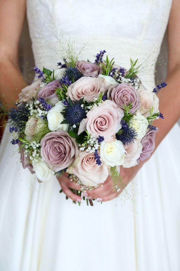 Stephanie Saunders Floral Design Amnesia Quicksand Akito Rosemary Lavender Bouquet