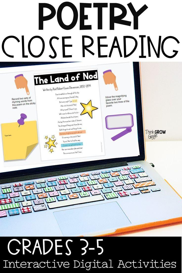Digital Poetry Activities Poetry Activities Reading Comprehension Activities Reading Activities [ 1104 x 736 Pixel ]