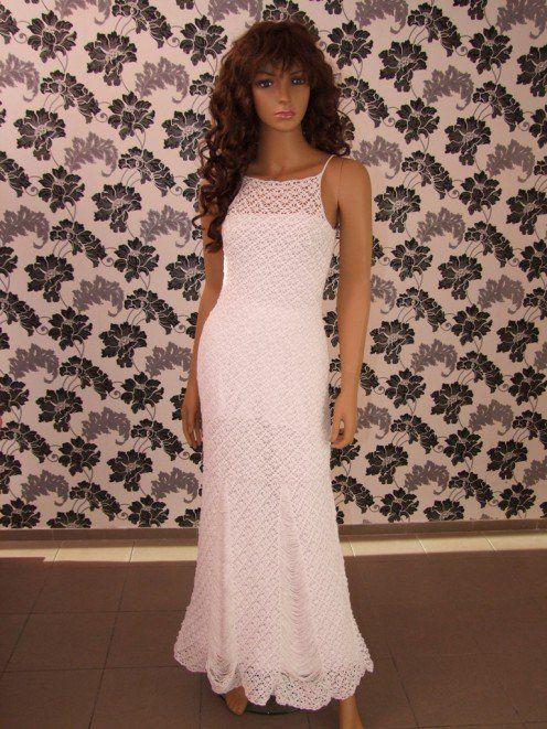 Вязание крючком свадебные платья