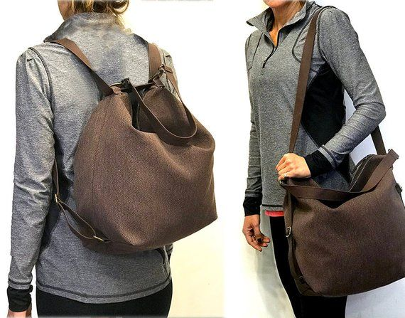 c53b75c909 Canvas backpack messenger bag women convertible  bagsandpurses  backpack   EtsyMktgTool  canvasbackpack  messenger