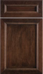 dura supreme cabinetry marquis panel cabinet door style shown in the java stained finish on