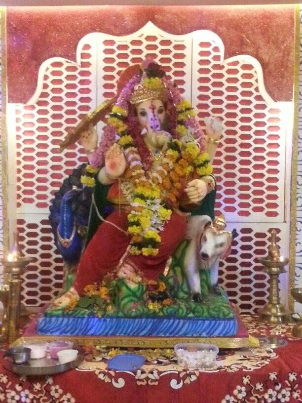 Ganpathi sitting on Nandi