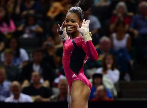 Gabby Douglas, won the 1 guaranteed spot on the US 2012 Olympics Women Gymnastics team, performs on the floor exercise during the U.S. Olympic gymnastics trials.  She will represent USA along with four others. #Team USA