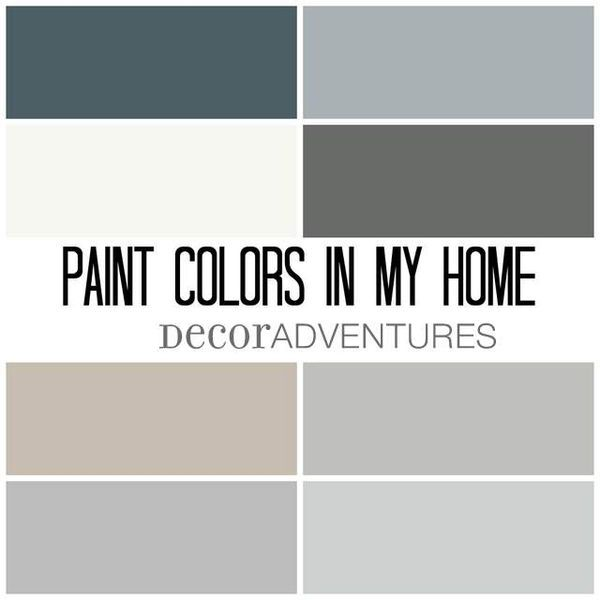 Paint Colors in my Home at Decor Adventures