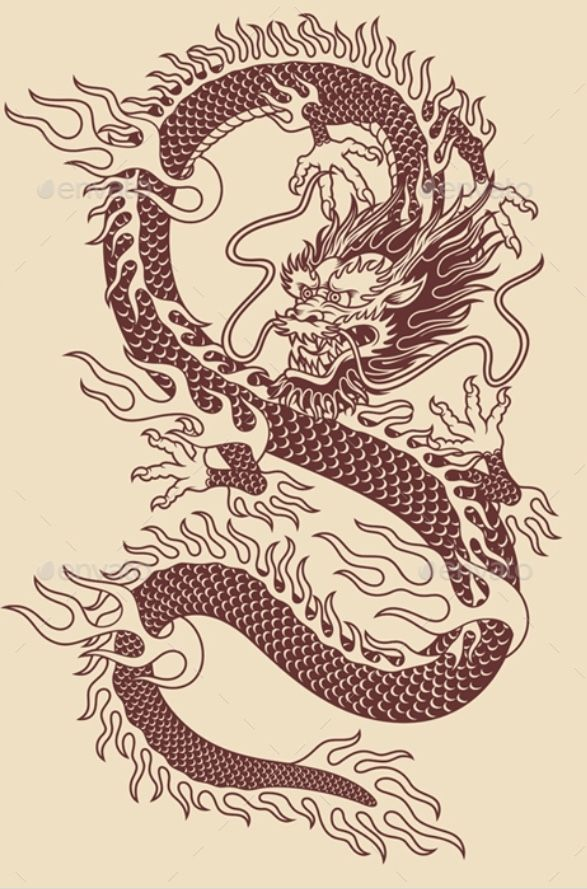 Pin By Ella Yasu On Art Inspiration With Images Asian Dragon Tattoo Dragon Illustration Dragon Tattoo Designs