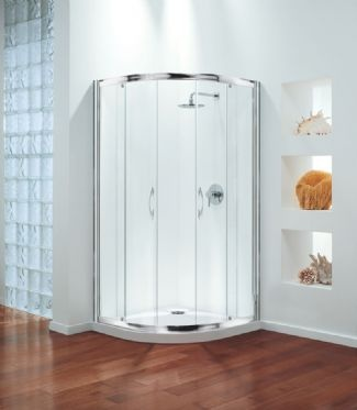 Coram Premier Quadrant Shower Enclosure 800mm x 800mm - Modesty Glass