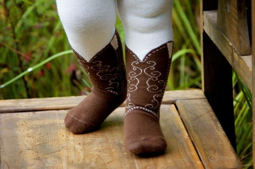 For all my friends with daughters: Cowboy boot tights. Even though I have 3 boys, these are too stinking cute not to get for a picture! Lol