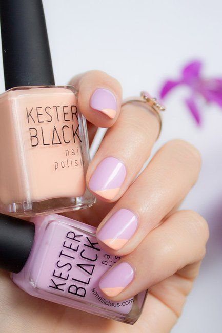 You can't go wrong with a lavender and peach mani.