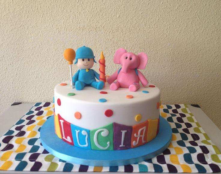 Tarta de Pocoyó para el cumpleaños de Lucía.