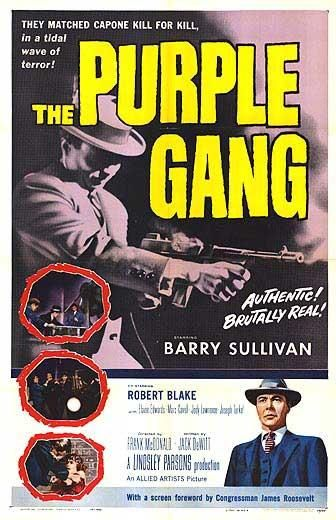 THE PURPLE GANG (1959) -Barry Sullivan & Robert Blake - Directed by Jack DeWitt - Allied Artists - Movie Poster.: Movie Posters, Hmh Detroit S, Michigan Purple, Purple Gang, Detroit S Purple, Detroit Purple