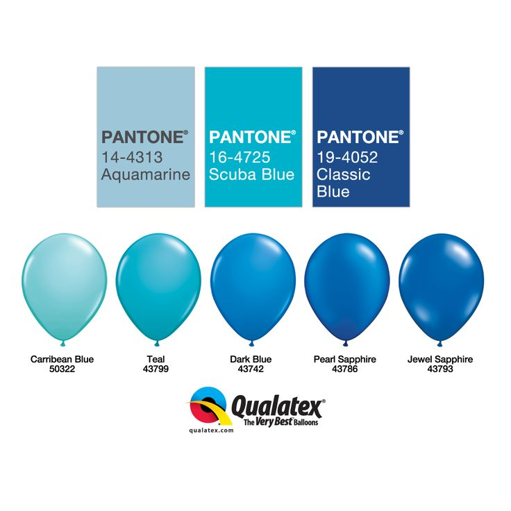 From Dark #Blue to #Teal or Carribean Blue, they're all on #Pantone palette for this season! Here are our favorite #Qualatex balloons to be trendy.