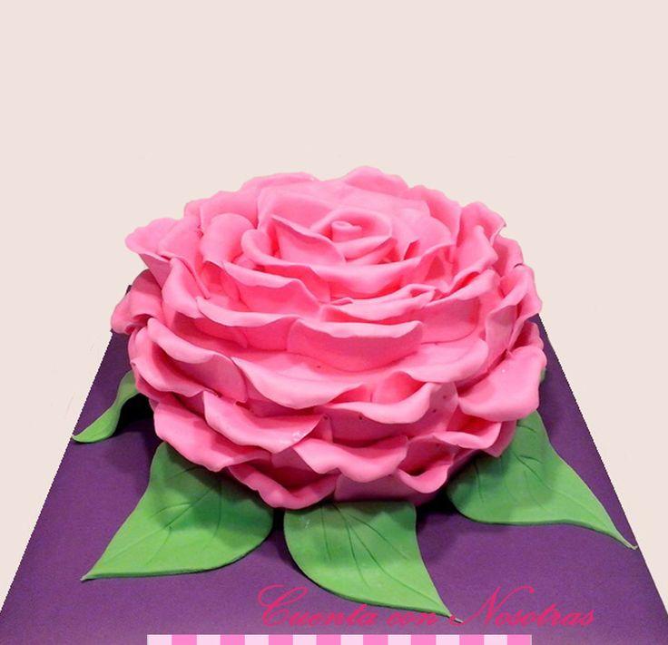Torta rosa Torta flores Torta mujer Rose Cake