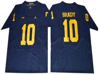 tom brady yellow michigan jersey