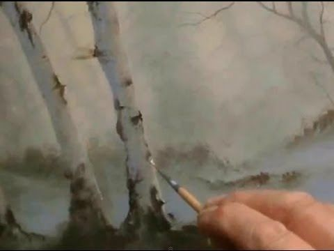 Woodland Dawn with Birches,an Oil Painting by Alan Kingwell - YouTube