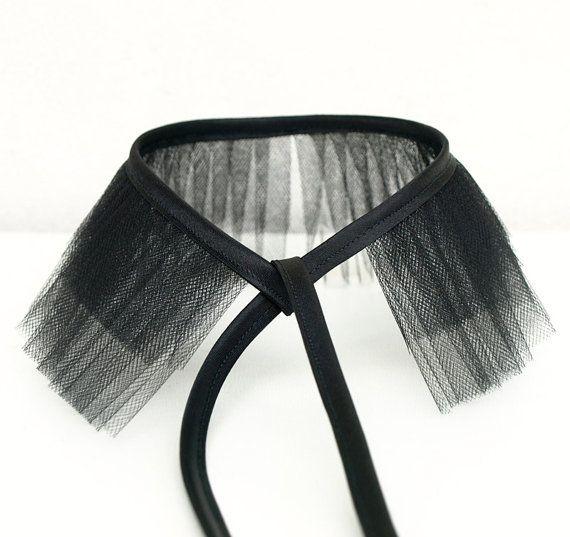 black tulle choker collar by KarolinfelixDream 2 of 2 DIY inspiration