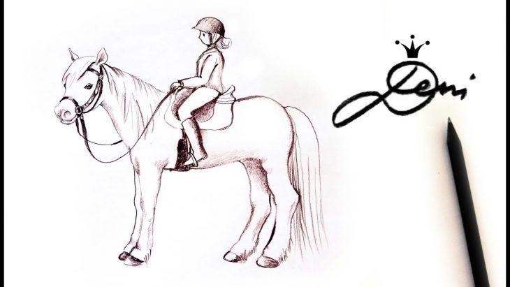 pferd mit reiter zeichnen  pferde zeichnen reiten pferd