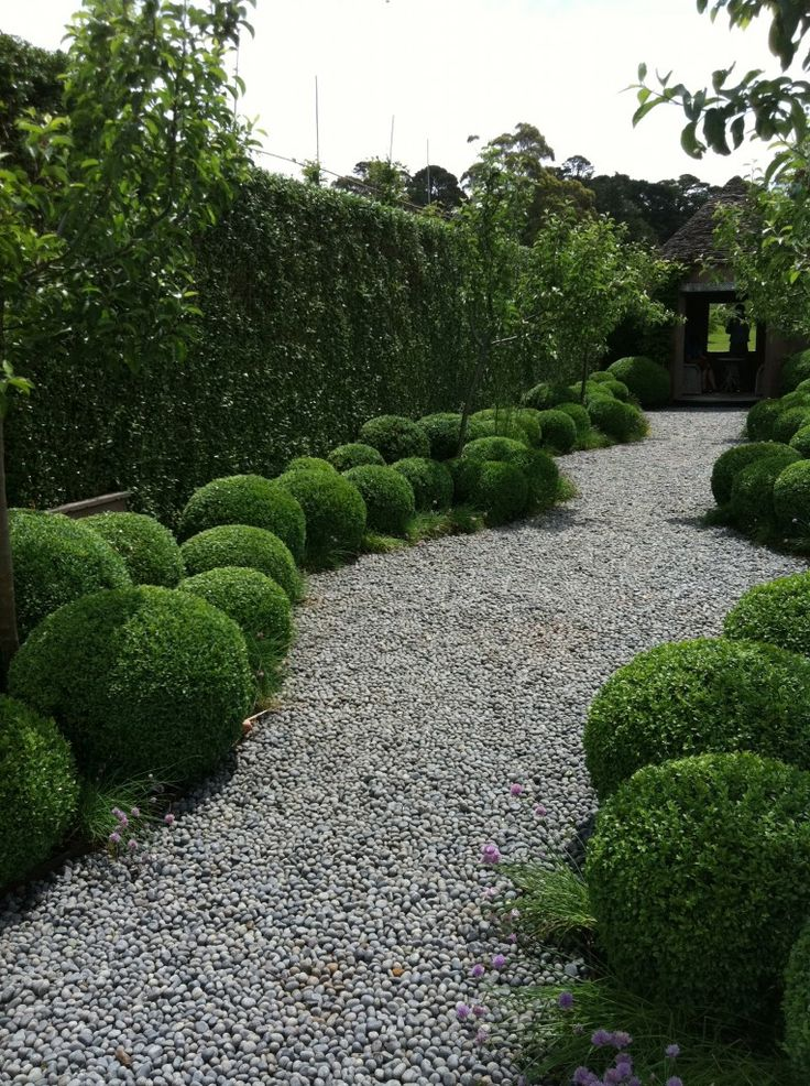 Stonefields - love the gentle curves of this path lined with boxwood