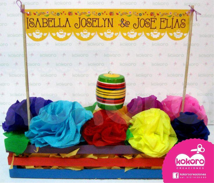 CENTRO DE MESA FIESTA MEXICANA www.facebook.com/kokorocreaciones, Colima, Col. cel 3121420083