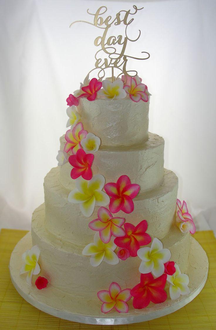 View Images Plumeria Frangipani Wedding Cake Occasion Cakes