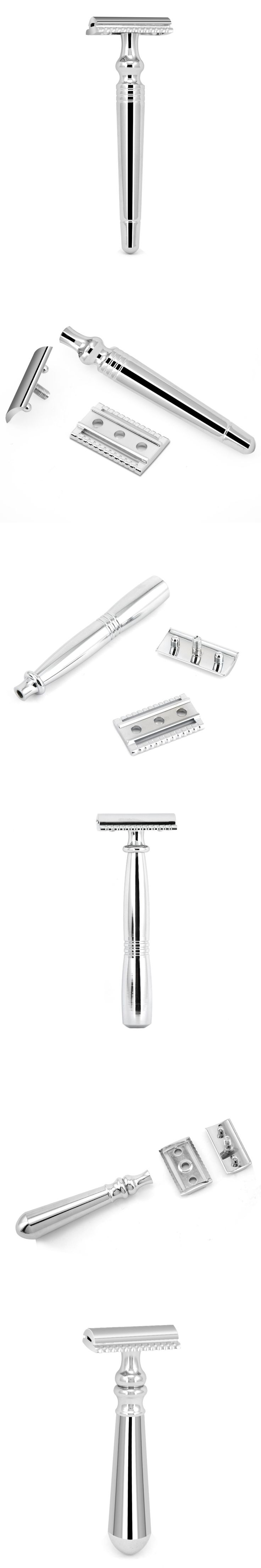 ZY Classic Double Edge Safety Razor Manual Shave Beard Shaver For Men Shaving + 10 Free Blade Best Gfit