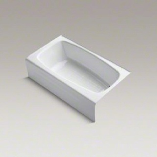 """Kohler bathtub. 4.6"""" comes with instructions. On how to maintain he safe guard on the bottom, it says use the rog3 cleaner regularly seek , on line only for purchase, www.rog3.com"""
