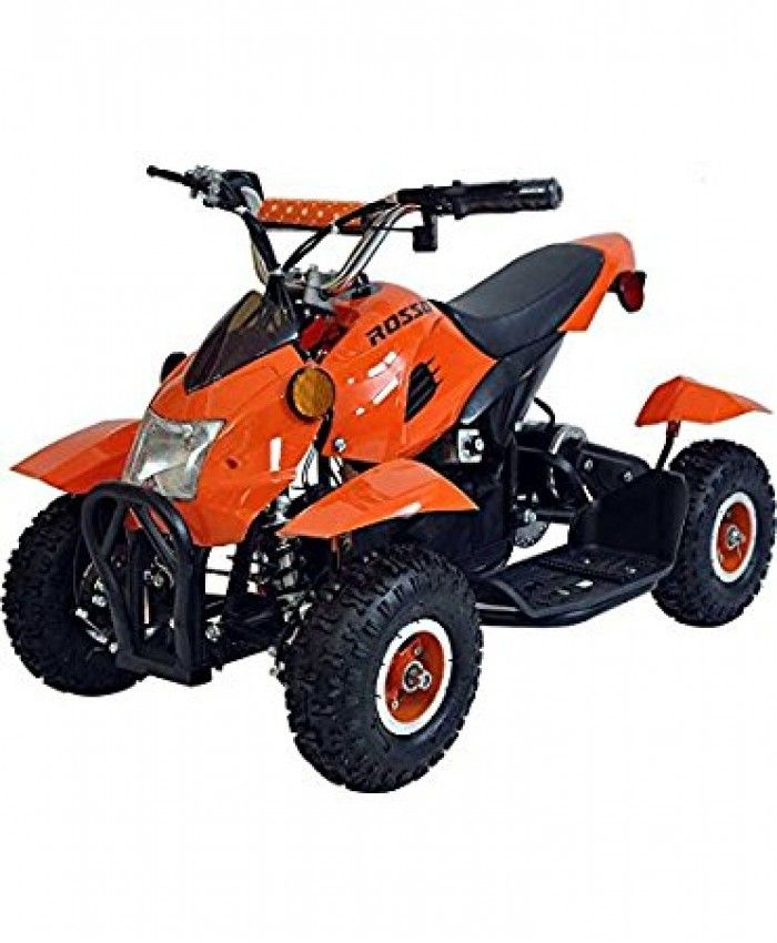 Rosso Motors Kids ATV Kids Quad 4 Wheeler Ride On with 36V Battery Electric Power Lights in Orange Motorcycle for Kids
