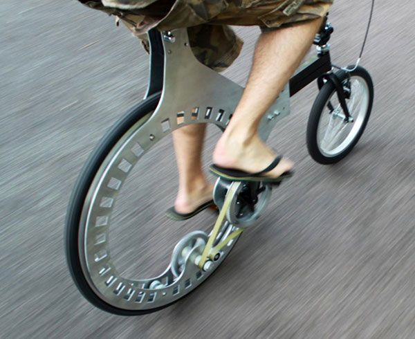 Belt-Driven, Hubless Rear Wheel Bicycle: Gadgets, Bike, Rear Wheels, Cycling, Hubless Rear, Belts Driven, Design, Wheels Bicycles, Hubless Bicycles