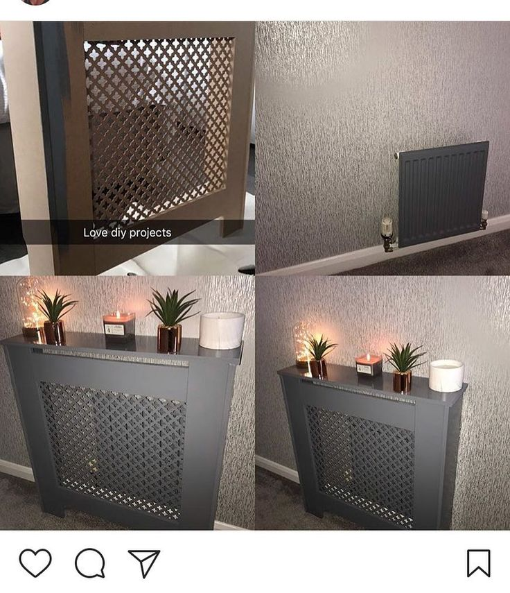 My 2 landings in my 3 storey house are quite narrow so wanted to add something to help it stand out more I decided to paint a plain radiator cover from Homebase and add some accessories to it here's the finished result. Of course it's grey with a splash of copper #home #homeinspo #homeinterior #homeinspiration #decor #projects #interiordesign #interiorstyling #interiors #passion