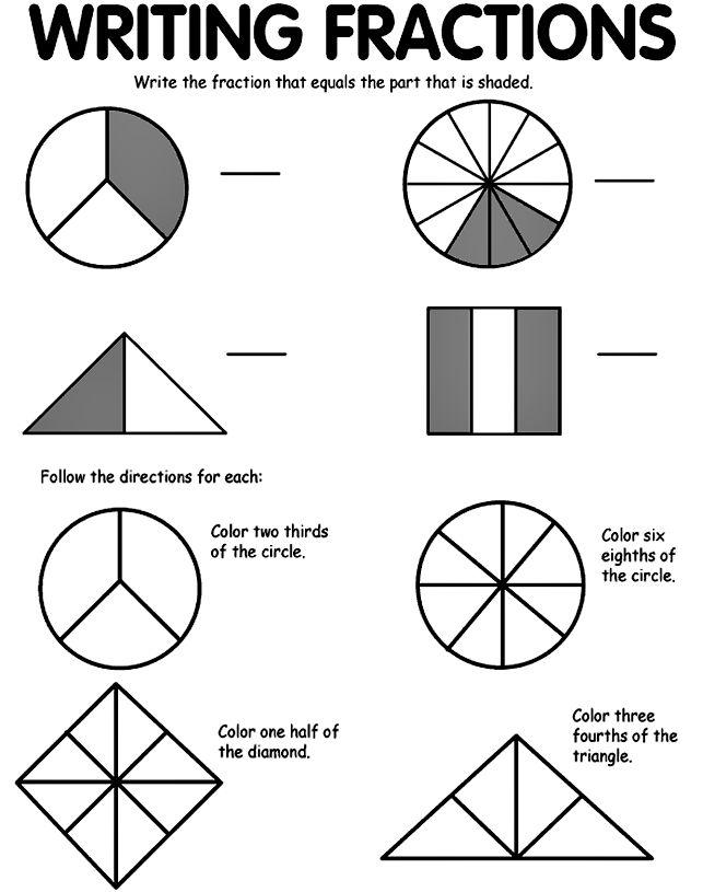 26 best 2nd grade fractions images on pinterest math fractions school and fractions. Black Bedroom Furniture Sets. Home Design Ideas