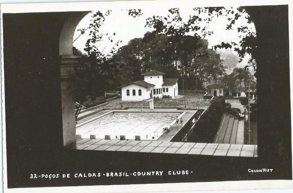 Fotografia tipo Postal Country Clube, Poços de Caldas...