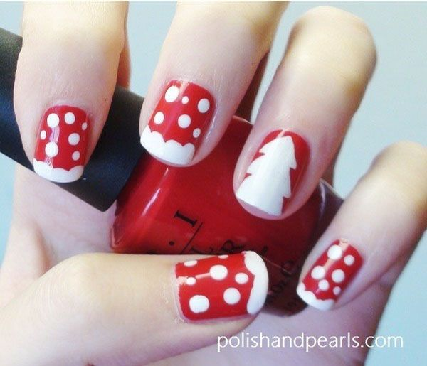 Easy Christmas Nail Art: 25+ Best Ideas About Simple Christmas Nails On Pinterest