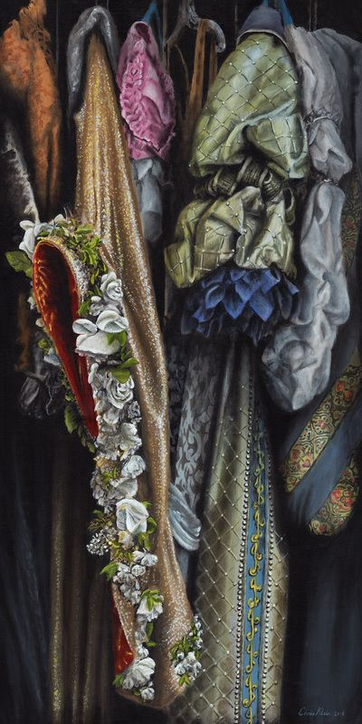 Costumes from the Stratford warehouse No17 Acrylic on canvas, 60x120 cm