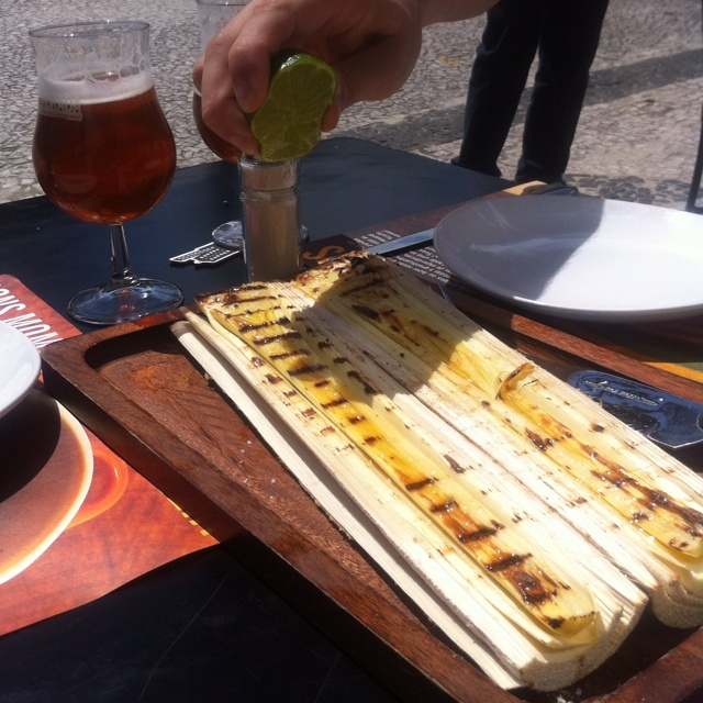 Palmito. Grilled hearts of palm. Madero - Curitiba, Brazil