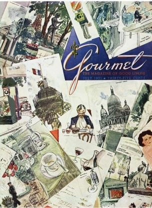 Best Gourmet Magazine Covers Forties And Fifties Images On