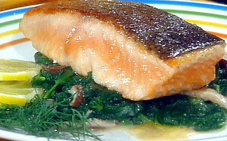 Seared salmon with ponzu and baby pak choy Recipe by Food Network Kitchens
