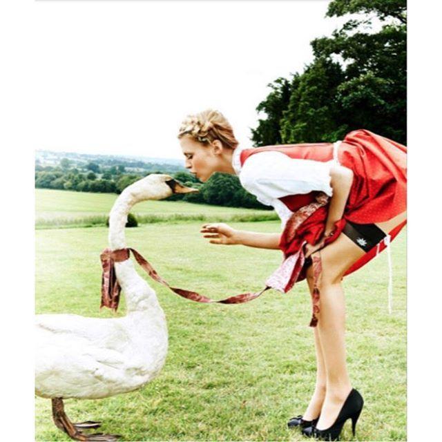 Countdown to the Oktoberfest 🍻 Thank you @estherhaasephotography , @falke and @stormmodels  for the fun shoot with my Swan 🙏🏻 #FALKE #socks #stayups #fashion #StormWoman #Wiesn #Oktoberfest #munich #bavaria #oans #zwoa #gsuffa