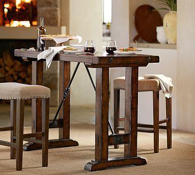 Benchwright Bar-Height Table #potterybarn