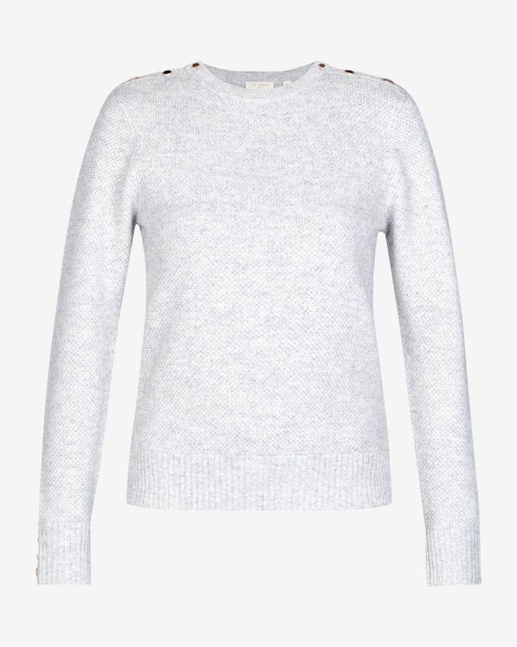 Textured jumper - Light Grey | Knitwear | Ted Baker ROW