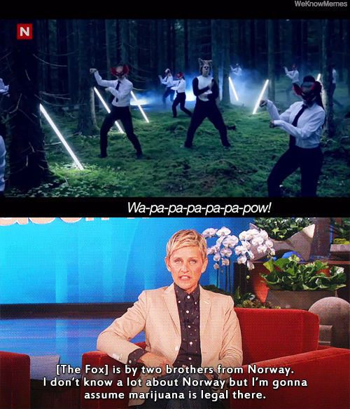 I don't know a lot about Norway... but i like your right ellen!