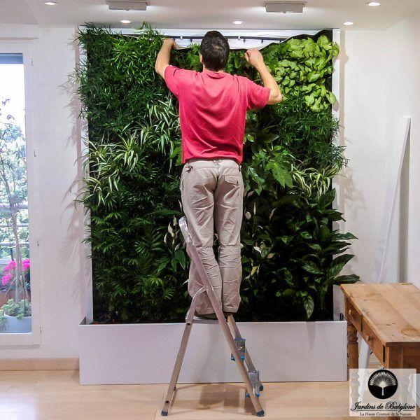 25 best mur v g tal int rieur images by jardins de. Black Bedroom Furniture Sets. Home Design Ideas