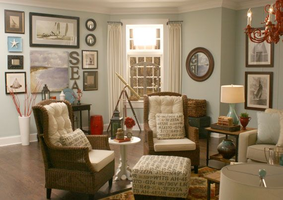 Remodelaholic | Beach Themed Living Room. There Is A Lot Of This Room I  Really