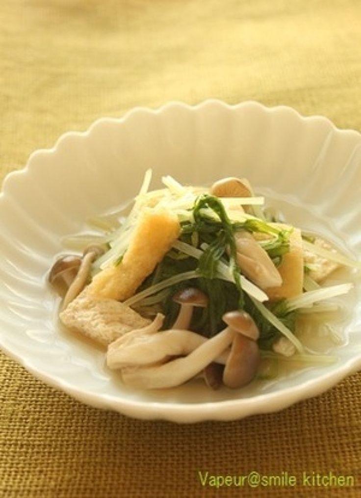 しめじと水菜のさっと煮 by 神田 美紀 / 簡単にできる副菜レシピです。あと一品欲しい時におすすめです。 / Nadia